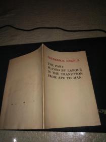 劳动在从猿到人转变过程中的作用(英文版)馆藏1975