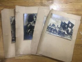 【铁牍精舍】【照片影像】民国时期大幅照片4种,背板45x34cm,照片25x20cm