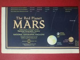 National Geographic國家地理雜志地圖系列之1973年2月 Mars 火星地圖