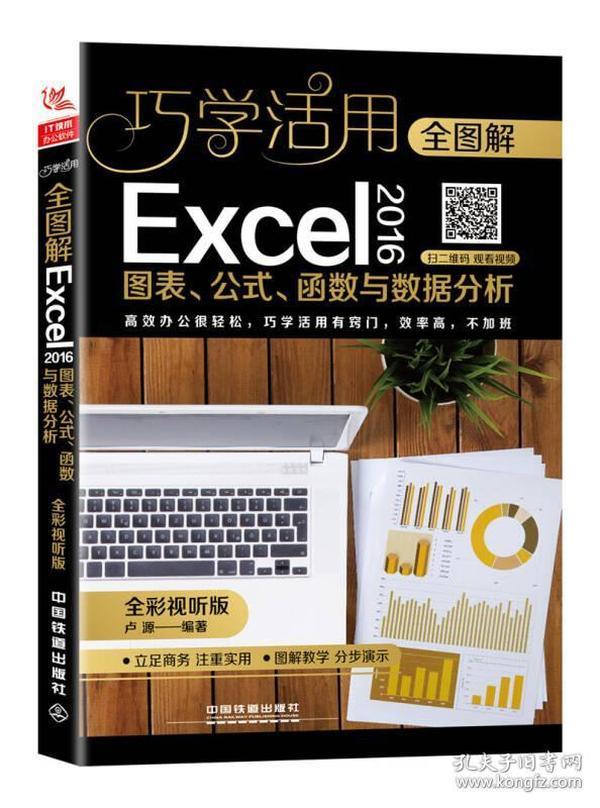 巧学活用:全图解Excel 2016图表、公式、函数与数据分析:全彩视听版