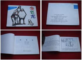 《变色龙》中学生画库,64开何浩中绘,湖南出版10品,5082号,再版连环画