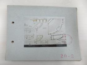 清华大学建筑系旧藏照片资料 散页 共10张 设计者曹 春一张 尺寸12×8.5厘米 尺寸大小不一