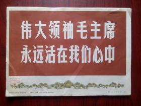 伟大领袖毛主席永远活在我们心中,人美版,全套64张(含封面)