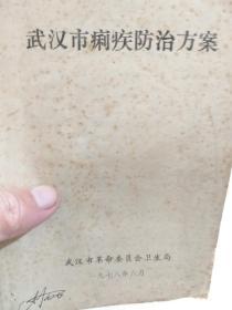 《武汉市痢疾防治方案》一册