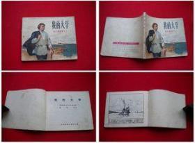 《我的大学》高尔基三部曲,人美1972.12辽宁翻印,2139号,连环画