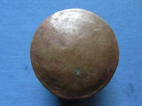 云南地方清代或民国手工紫铜墨盒,品如图1