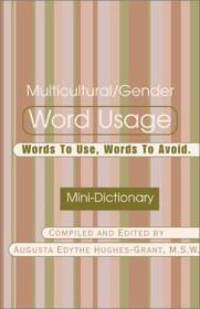 Multicultural/gender Word Usage