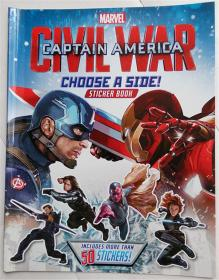 Marvels Captain America: Civil War   贴纸书 平装书