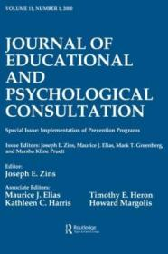 Implementation Of Prevention Programs: A Special Issue Of The Journal Of Educational And Psychologic