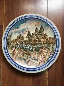 【柬埔寨】建设中的吴哥窟  KHMEER设计绘制瓷盘