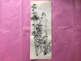 竹石图-特厚书画纸无款无章