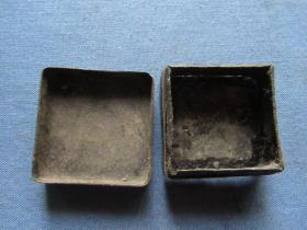 民国刻有兰草烂铜墨盒,修下即可,品如图,包老包真1