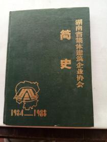 湖南省集体建筑企业协会简史  1984—1988