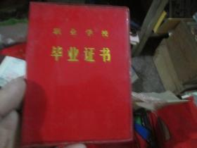老证书老证件:职业学校毕业证书(1987,杨文强)