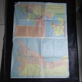 青岛市旅游图(1985年)