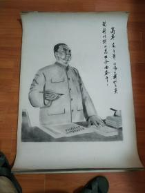 文革宣传画  碳笔画 素描手稿  87cmx60cm见图