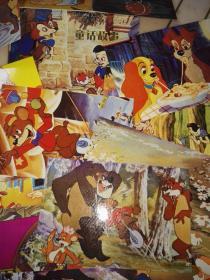 童话故事  童话故事明信片白雪公主明信片 木偶奇遇记明信片 小棕熊的故事明信片 小狗奇遇记明信片【一套15枚全 带函套】