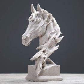 北欧现代创意马头摆件家居饰品工艺品客厅酒吧样板房摆设结婚礼物