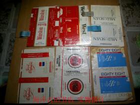 烟标 --海外烟标--  拆包标 6种不同合售
