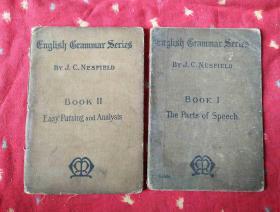 民国外文书 ENGLISH GRAMMAR SERIES BOOK I II【2册合售】