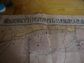 民国 手绘地图<<上海市新市区地图 79x58>>品图自定