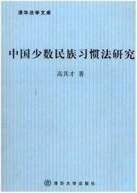 中国少数民族习惯法研究