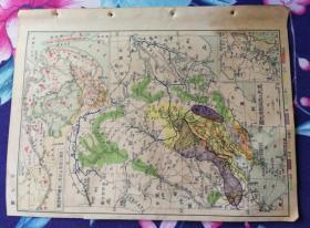14特价民国老地图黑龙江流域经济地图济南市江苏省地图包老