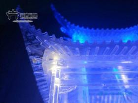 骊宫首创 水晶版古建筑模型 1:50爱晚亭 拼装小屋 少儿国学礼物