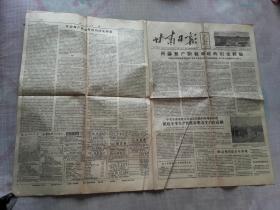 老报纸 甘肃日报  1956年12月29日。 1日报纸【4版】