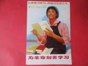 文革宣传画:为革命刻苦学习【临潼中学 吴健】