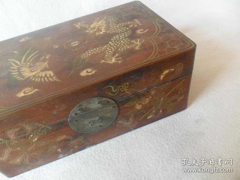 描金木盒。