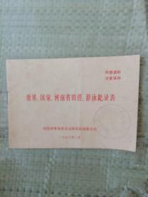 世界,国家,河南省田径游泳纪录表