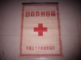 稀见1952年-中国红十字会总会编印【急救教材挂图】26张一套全!对开。下方有裂口如图