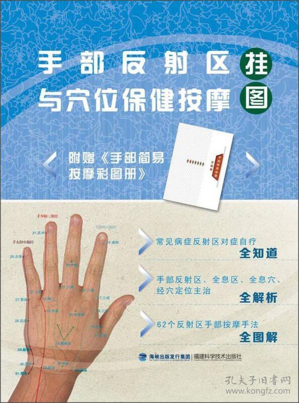 手部反射区与穴位保健按摩挂图