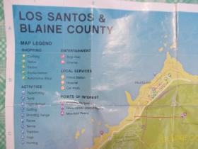 英文原版洛杉矶桑托斯布莱恩县地图()(LOS SANTOS BLAINE COUNTY)