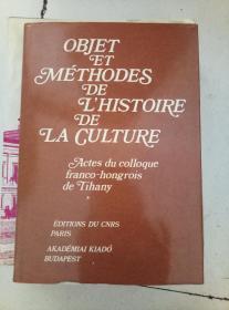 objet et metthodes de l histoire de la culture