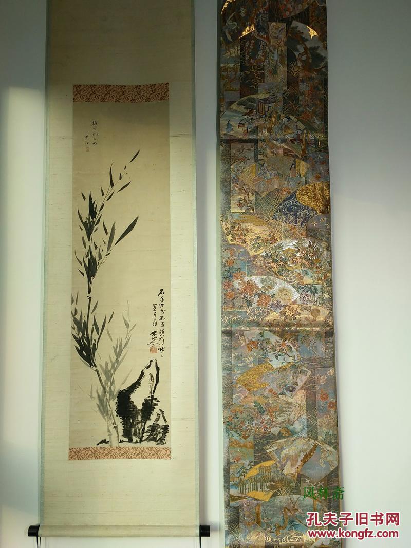 西阵织极致 双面全通 千八百织袋带 传承国宝图 日本京都名产 和服腰带 刺绣之精细度