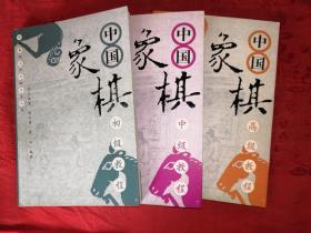 稀缺经典丨中国象棋初级、中级、高级教程(全三册)