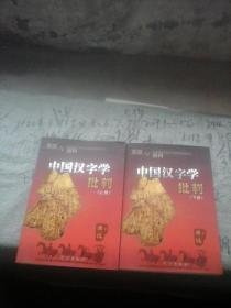 中国汉字学批判(上 下册)
