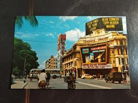 新加坡五十年代Capital Theatre戏院明信片一张