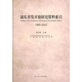 浦东开发开放研究资料索引(1985—2010)