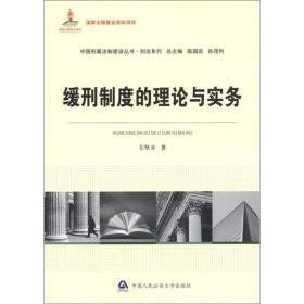 中国刑事法制建设丛书·刑法系列:缓刑制度的理论与实务