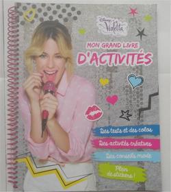 精装法语 Mon grand livre dactivités Violetta  我的大型活动Violetta 带贴纸