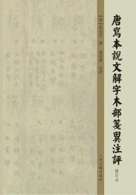 唐写本说文解字木部笺异注评(修订本)