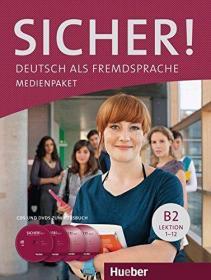 德国原版 德文 德语教材 Sicher ! B1+ MEDIENPAKET: 1 DVD und 2 CDs. Deutsch als Fremdsprache 课文音频和教学视频