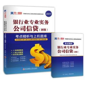 2017中国银行业专业人员职业资格考试·考点精析与上机题库《银行业专业实务公司信贷》