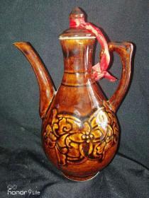 酒壶(酱釉色)