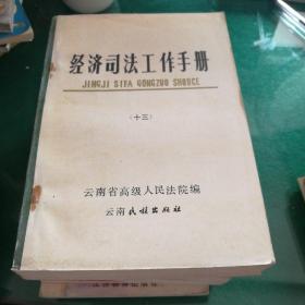 经济工作司法手册(十三)云南省高级人民法院编云南民族出版社32开596页