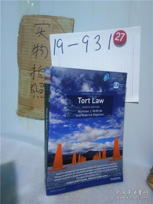 正版实拍;Tort Law (Longman Law Series) premium pack【附光盘】
