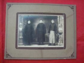 【民国老照片】三位少爷(其中定有一名人有待考究)----浮雕卡纸镶嵌